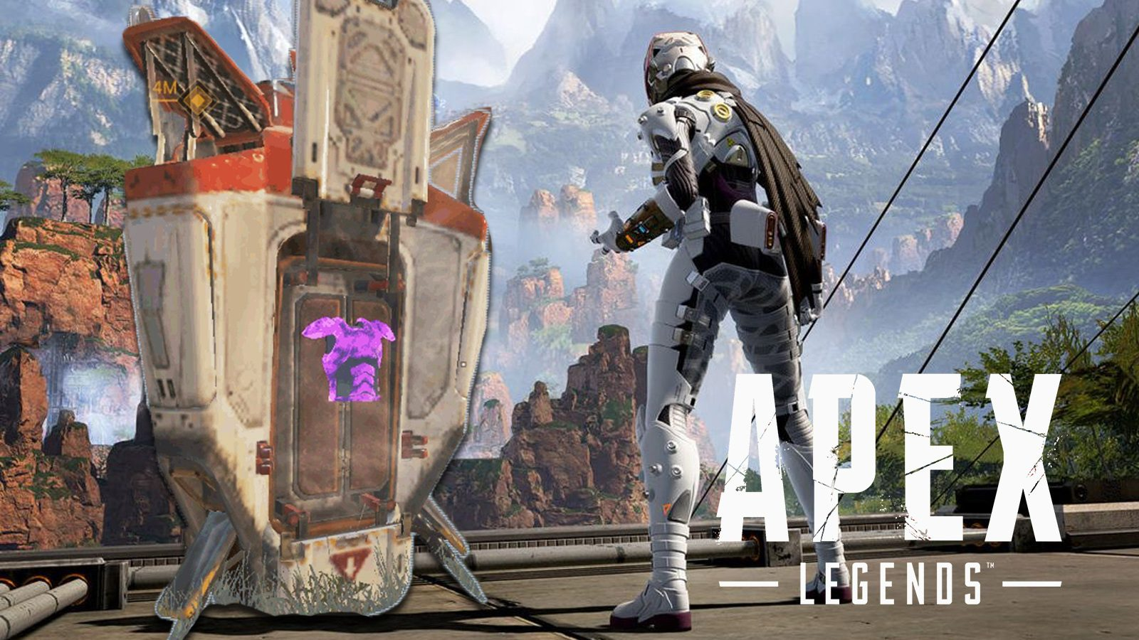 Wraith with a supply drop in Apex Legends