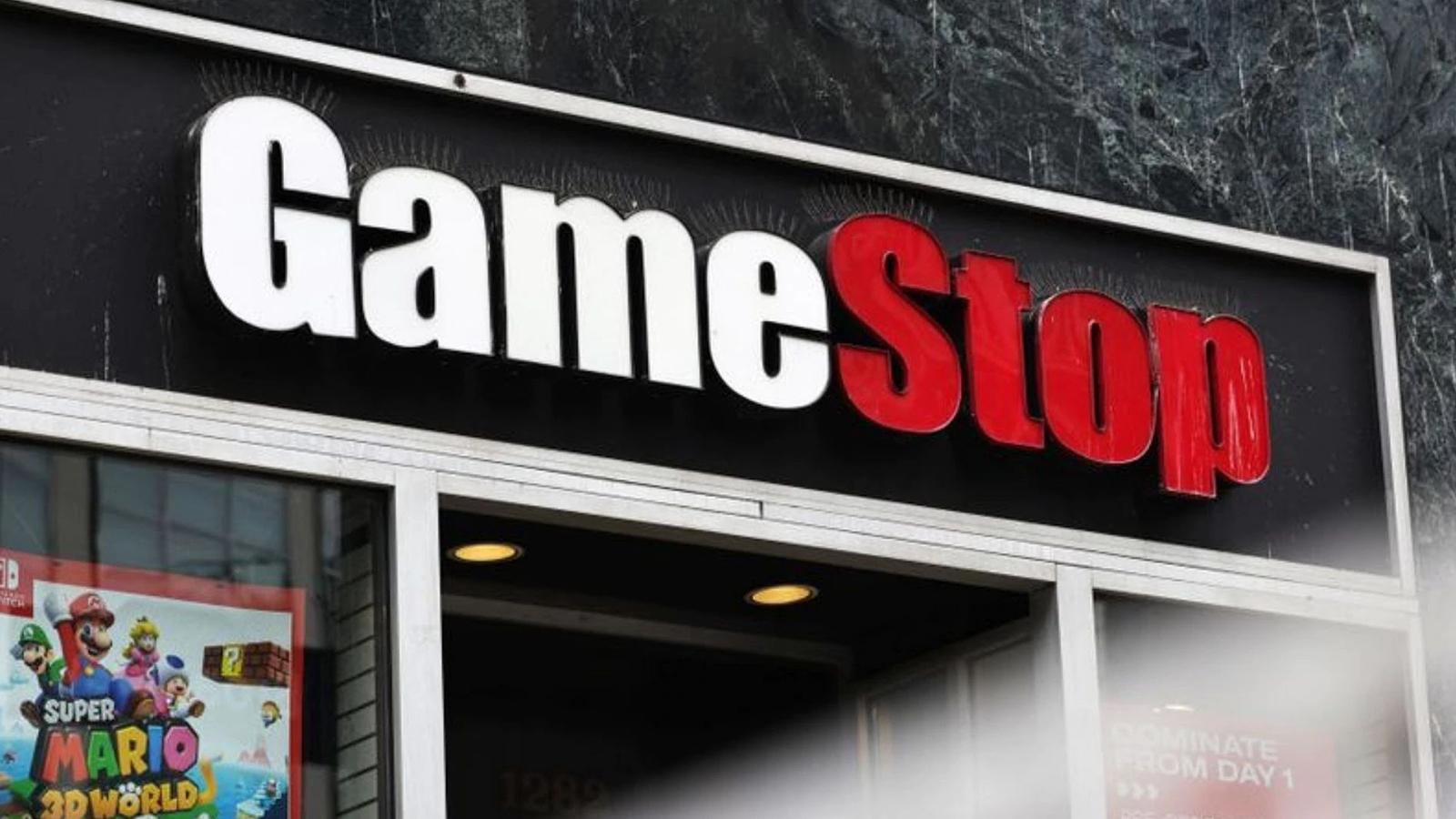"GameStop shopfront amid the WallStreetBets $GME ""to the moon"" saga."
