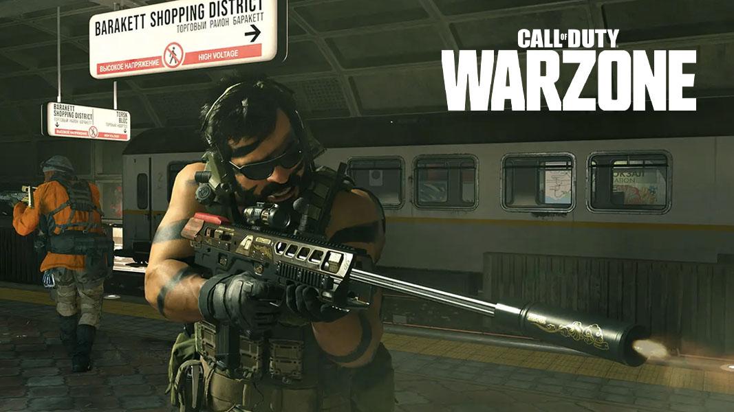Modern Warfare characters battling in a train station in Warzone