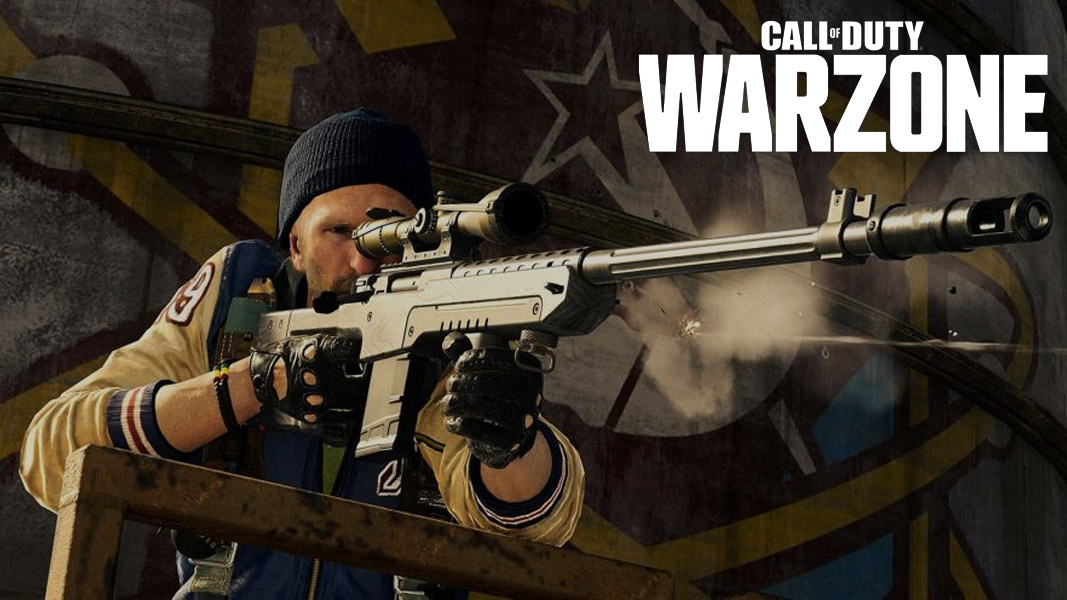 Call of Duty charatcer with a sniper in Warzone