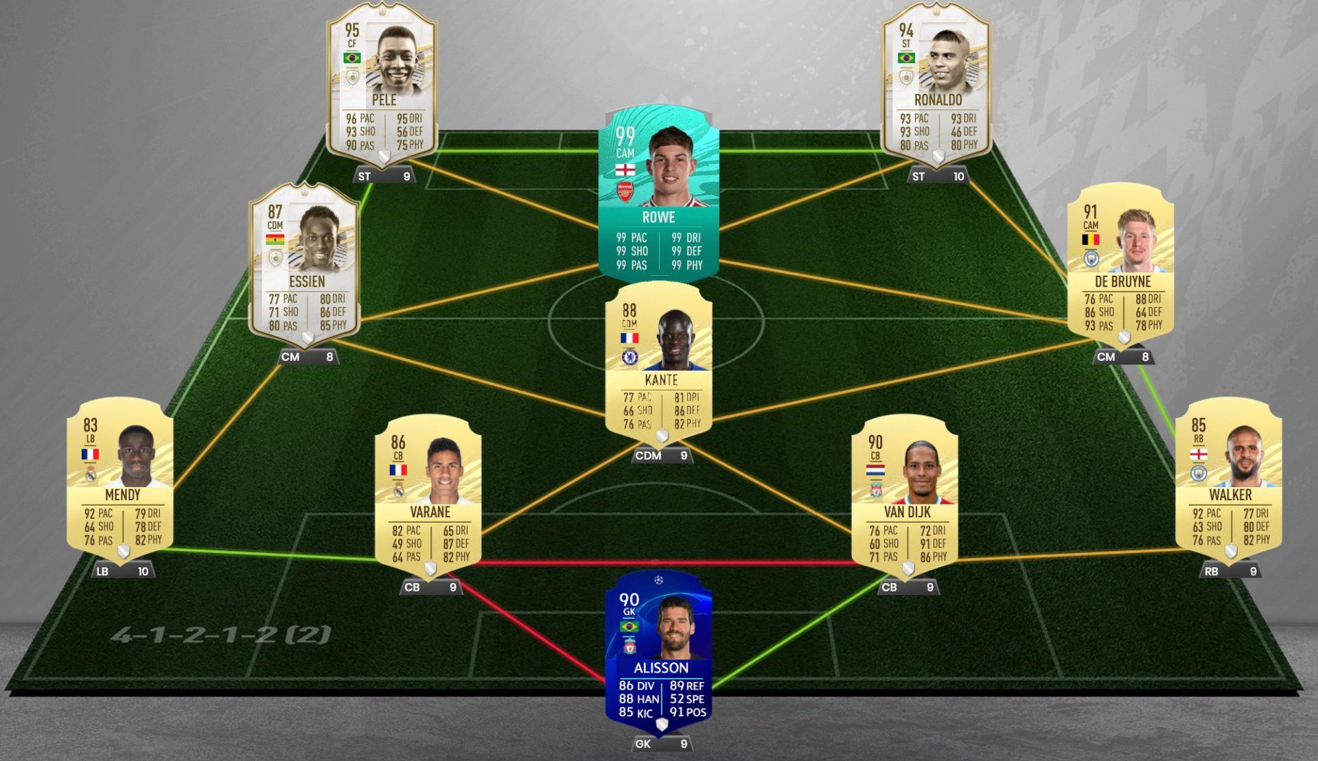 Emile Smith Rowes FUT 21 squad