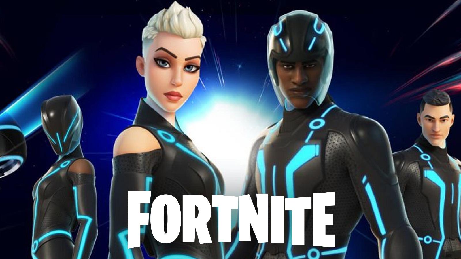 Fortnite marvel tron skin crossover