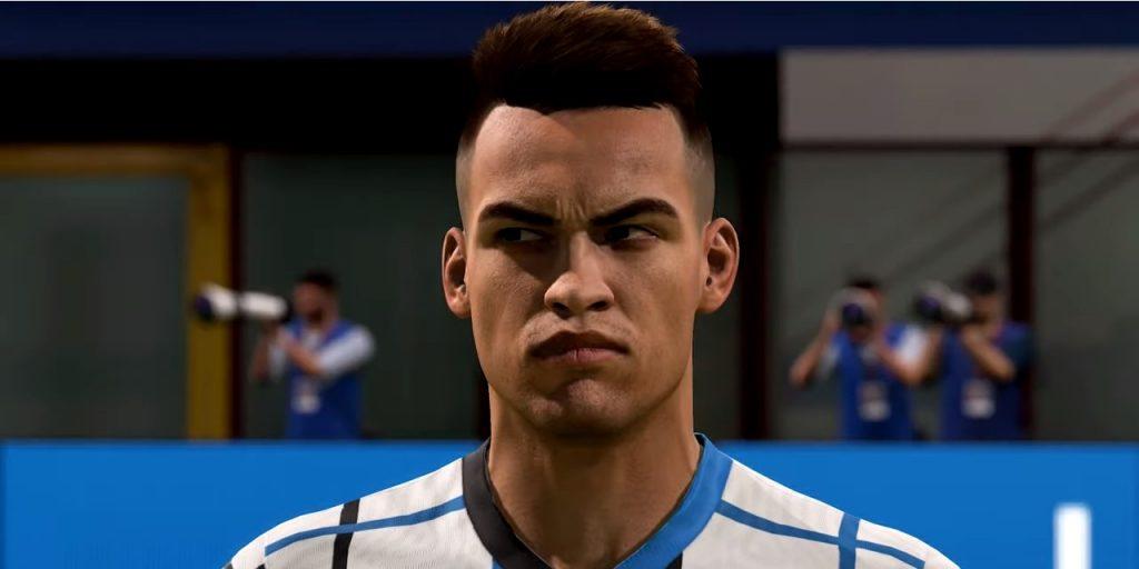 Lautaro Martinez in FIFA 21 with Inter Milan