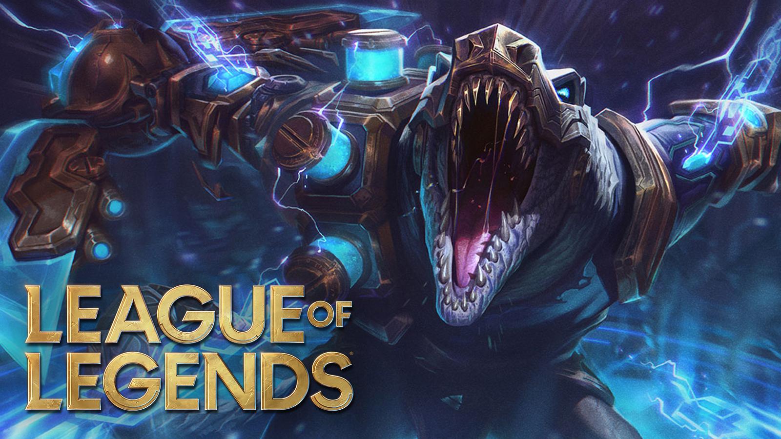 Hextech Renekton stands over League of Legends patch 11.4 notes.