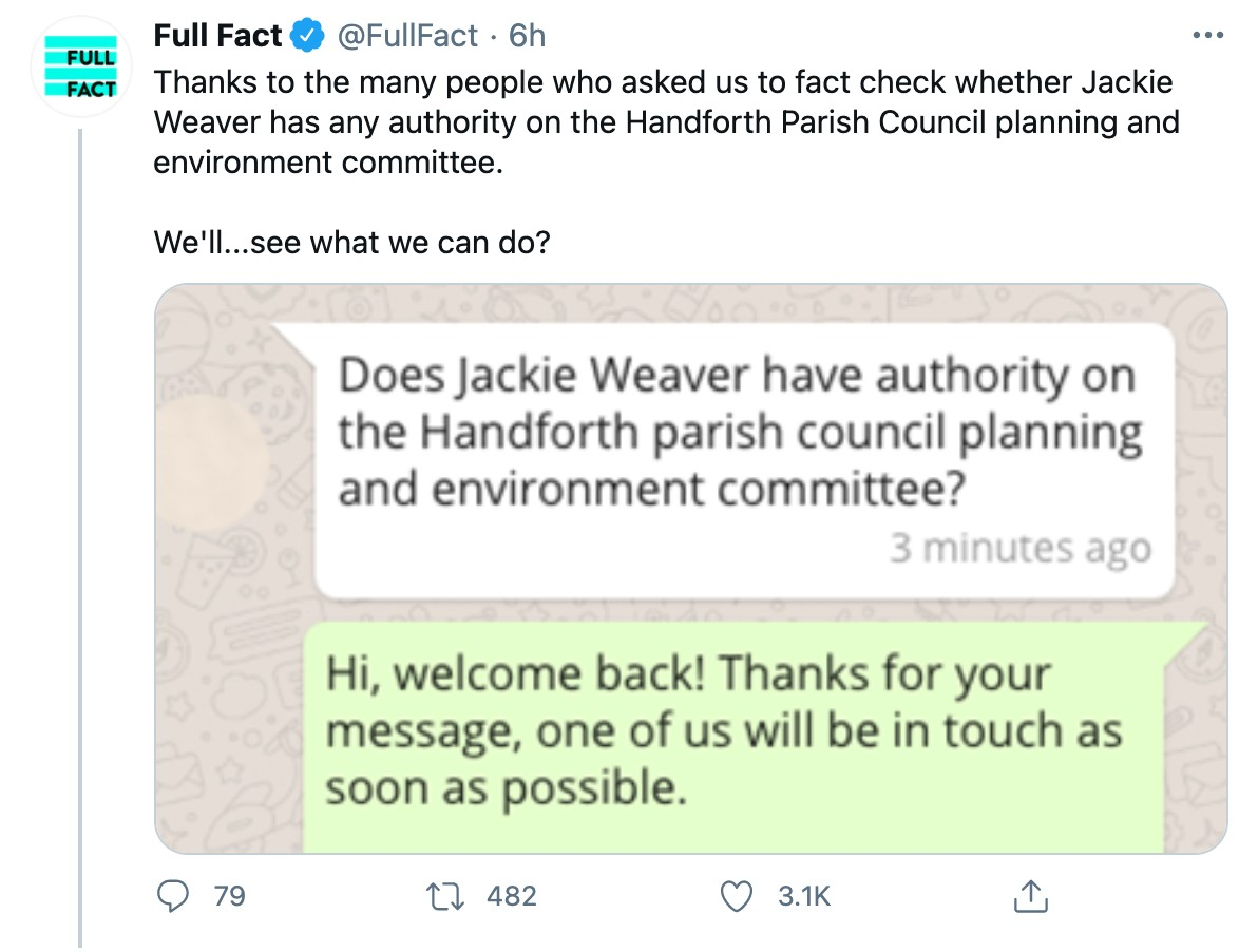 Meme about this Handforth parish council meeting on Twitter