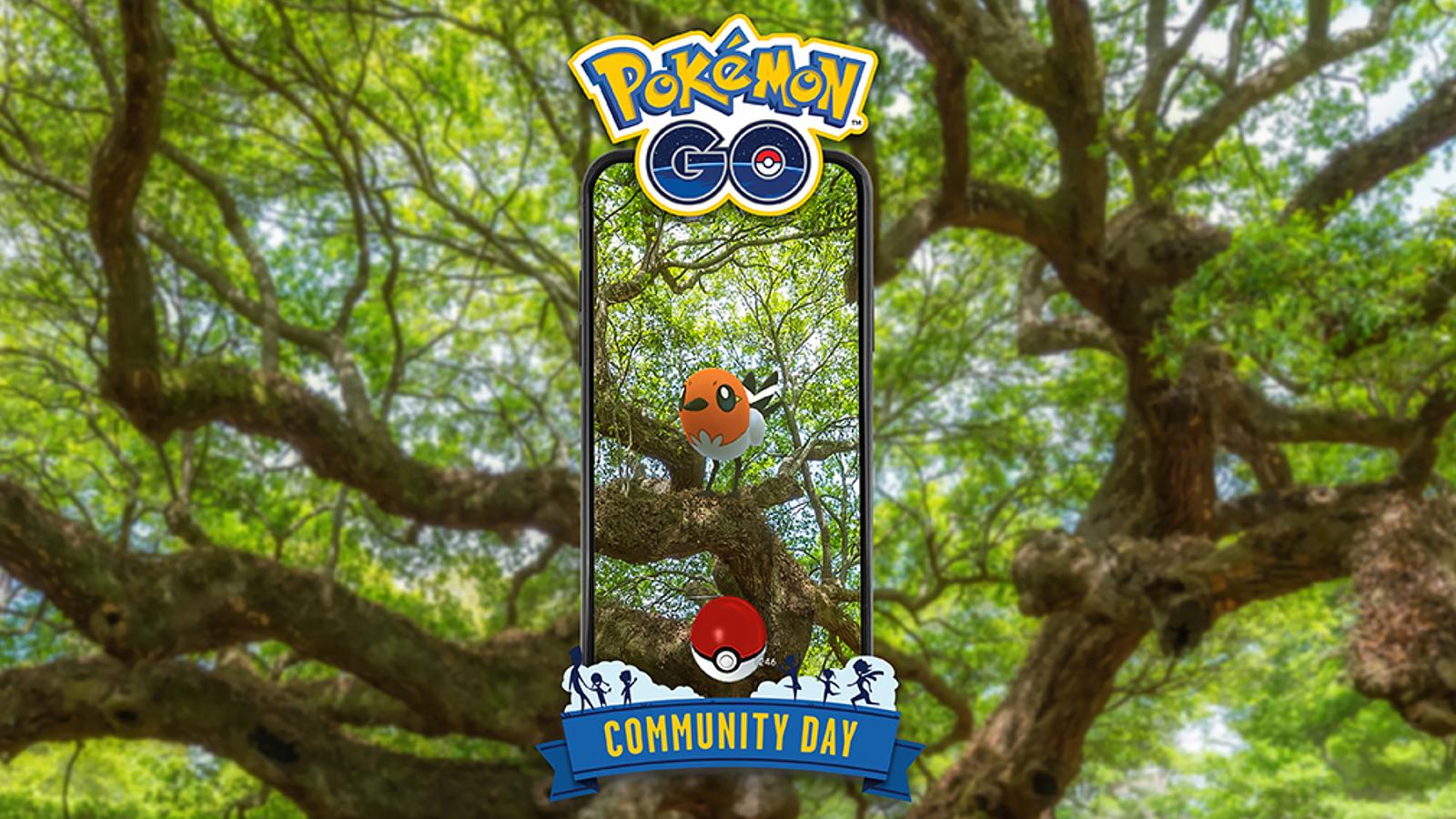 Screenshot of Fletchling Pokemon Go community day.