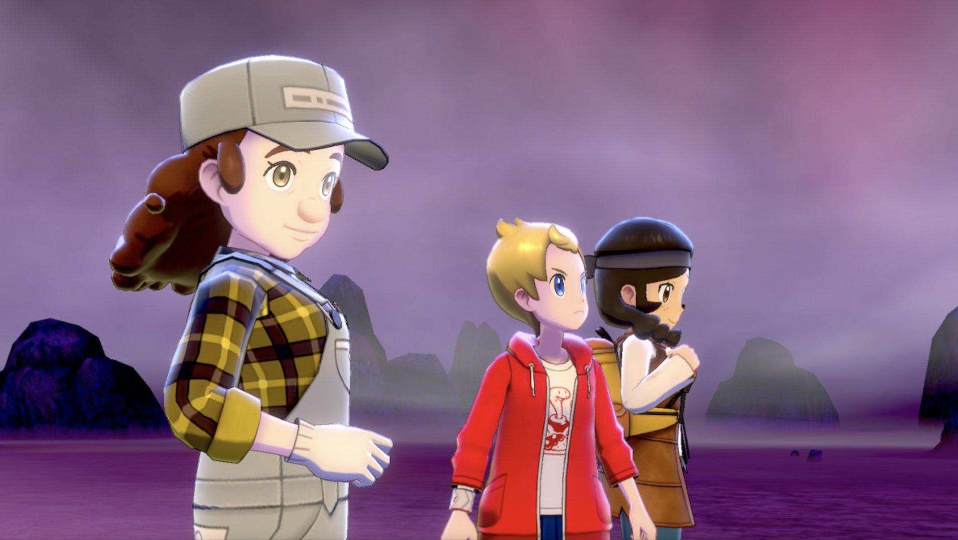 Screenshot of Max Raid NPC teammates in Pokemon Sword & Shield.