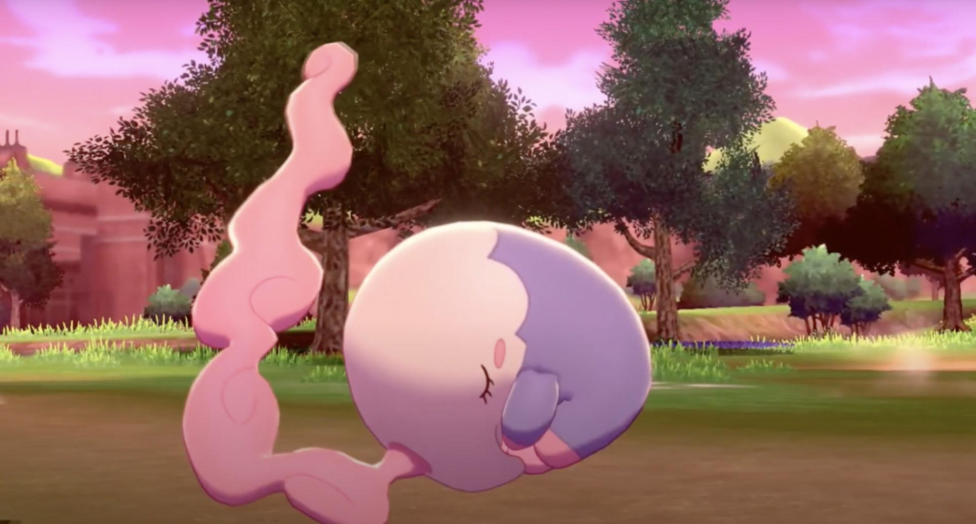 Screenshot of Musharna in Pokemon Sword & Shield.