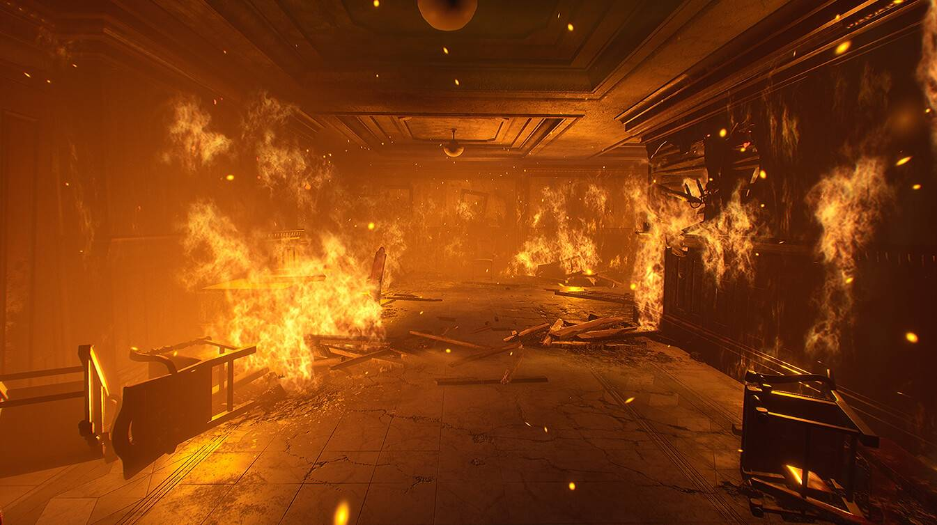 Building on fire in Vampire The Masquerade Bloodlines 2