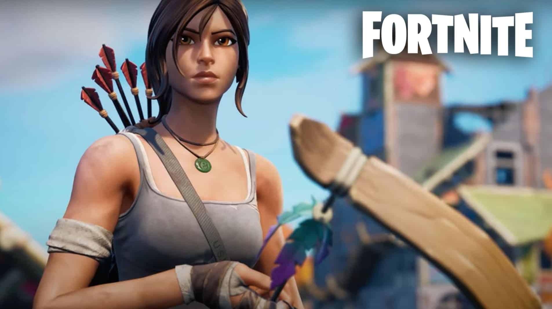 Lara Croft NPC Fortnite