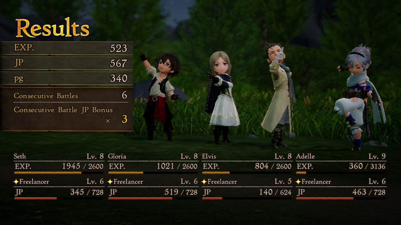 Bravely Default 2 experience