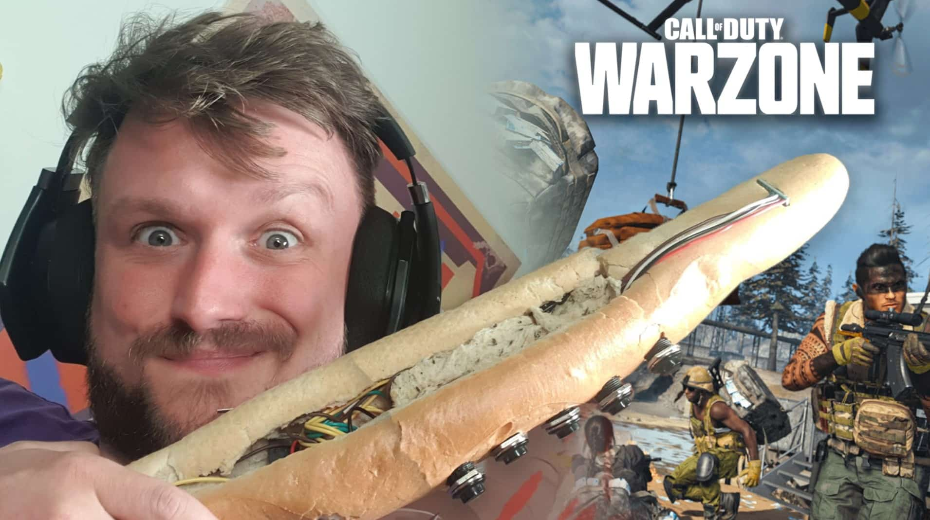 Rudeism playing Warzone with a baguette