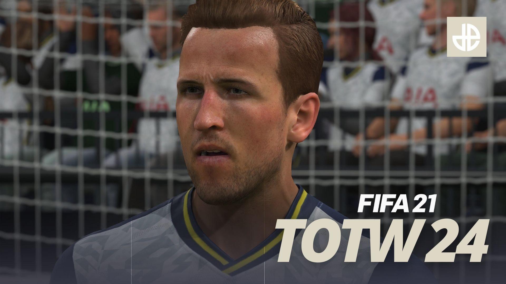 Harry Kane in FIFA 21 Ultimate Team Team of the Week TOTW 24.