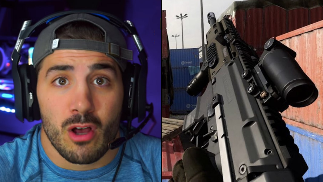 Nickmercs side-by-side with cx-9 smg