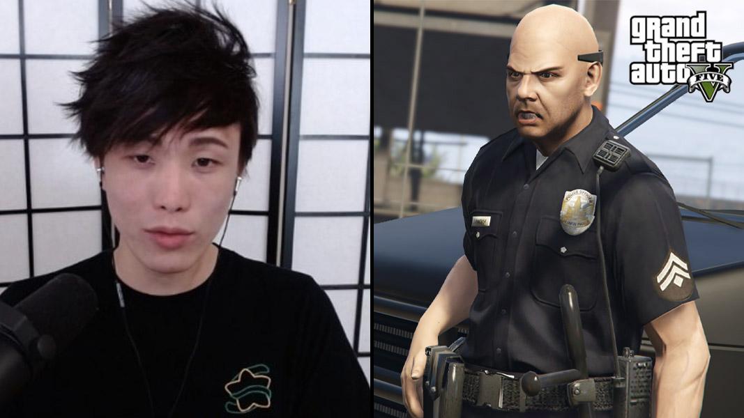 Sykkuno and a GTA v police official